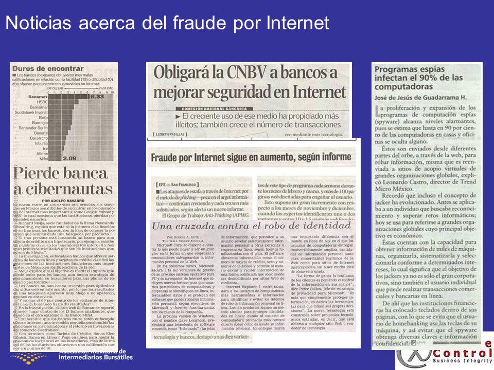 Noticias acerca del fraude por Internet