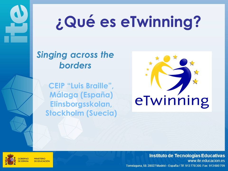 ¿Qué es eTwinning Singing across the borders