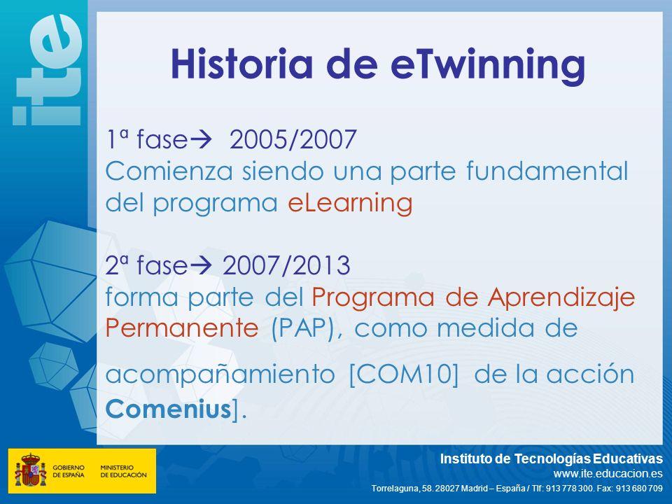 Historia de eTwinning 1ª fase 2005/2007