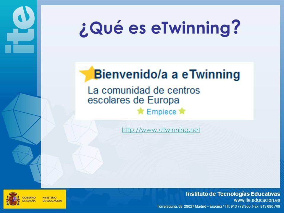 ¿Qué es eTwinning http://www.etwinning.net