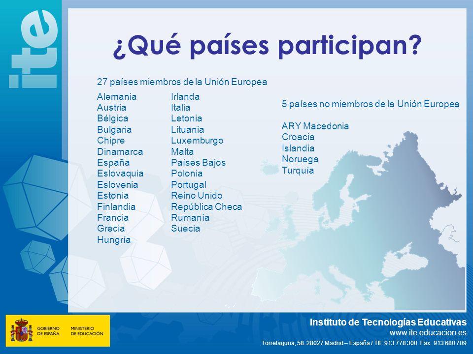 ¿Qué países participan