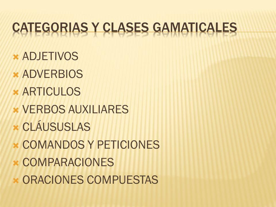 Categorias y clases gamaticales
