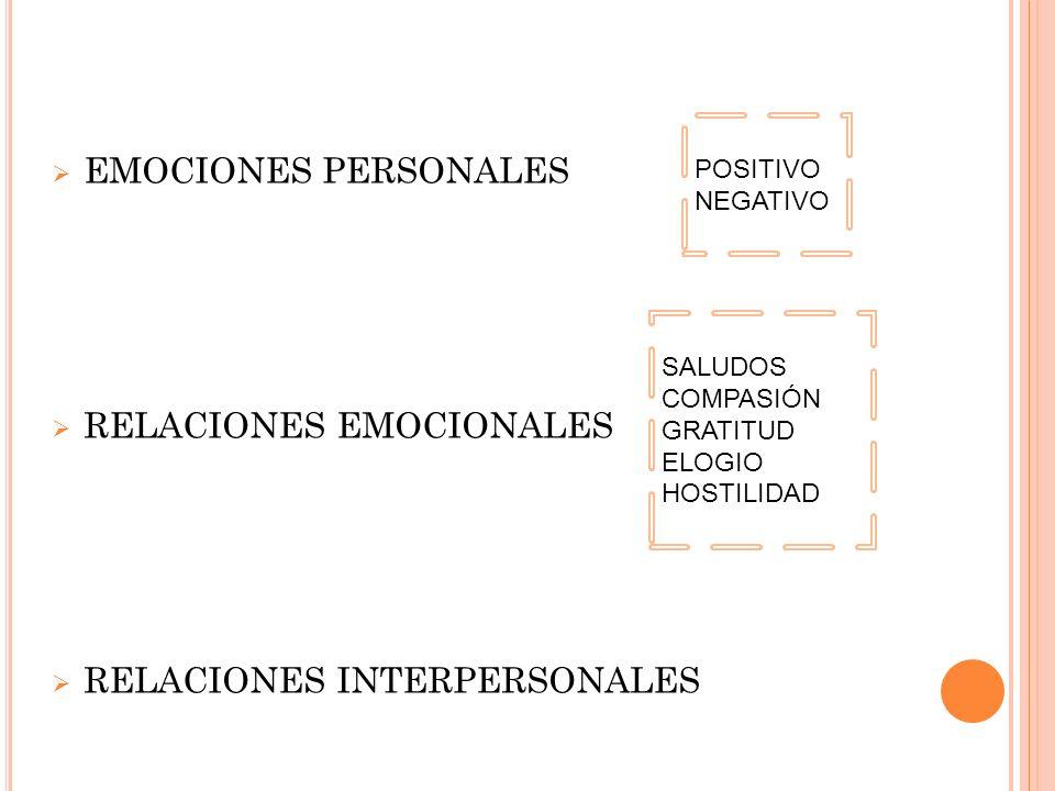 RELACIONES EMOCIONALES
