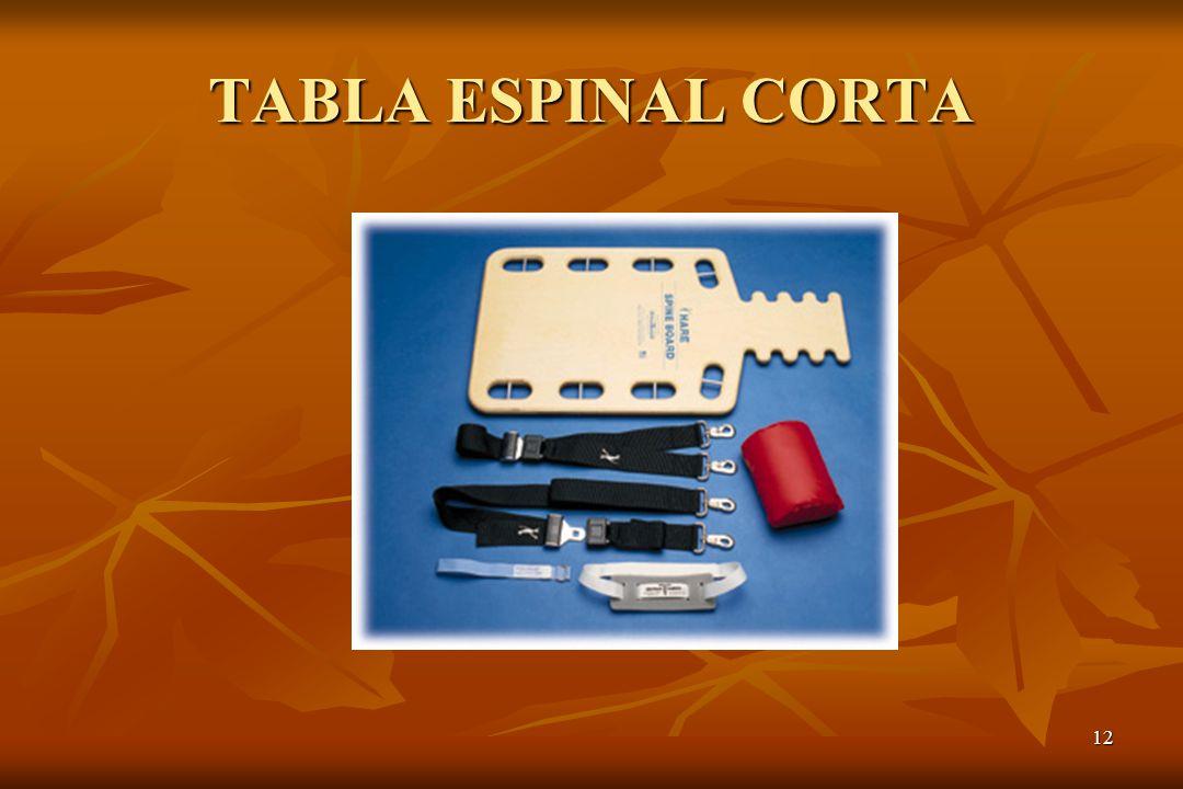 TABLA ESPINAL CORTA