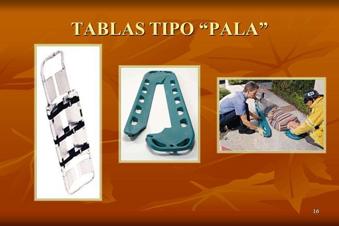 TABLAS TIPO PALA