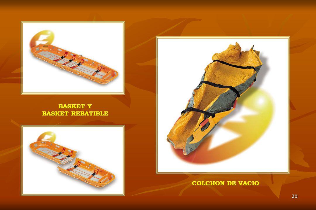 COLCHON DE VACIO BASKET Y BASKET REBATIBLE