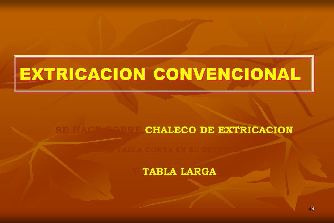 EXTRICACION CONVENCIONAL