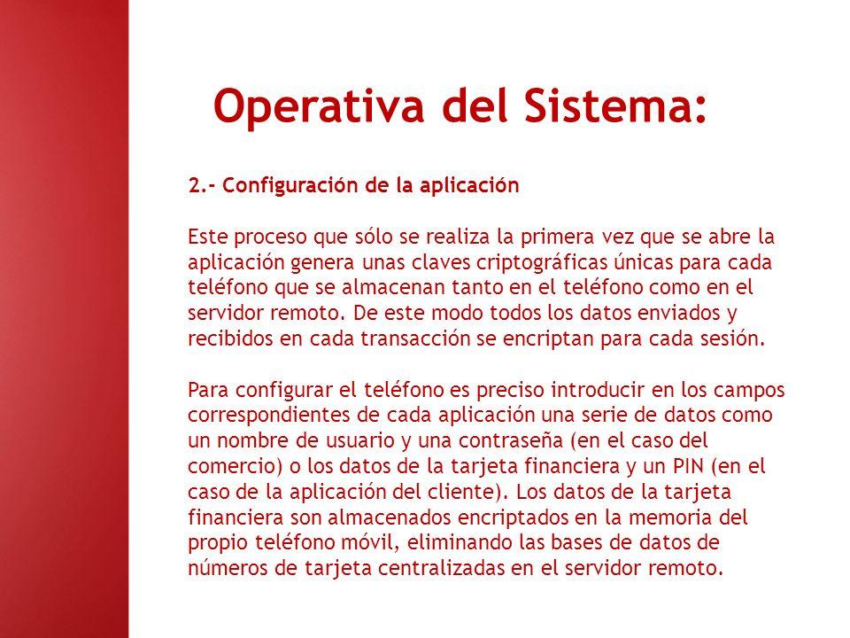 Operativa del Sistema: