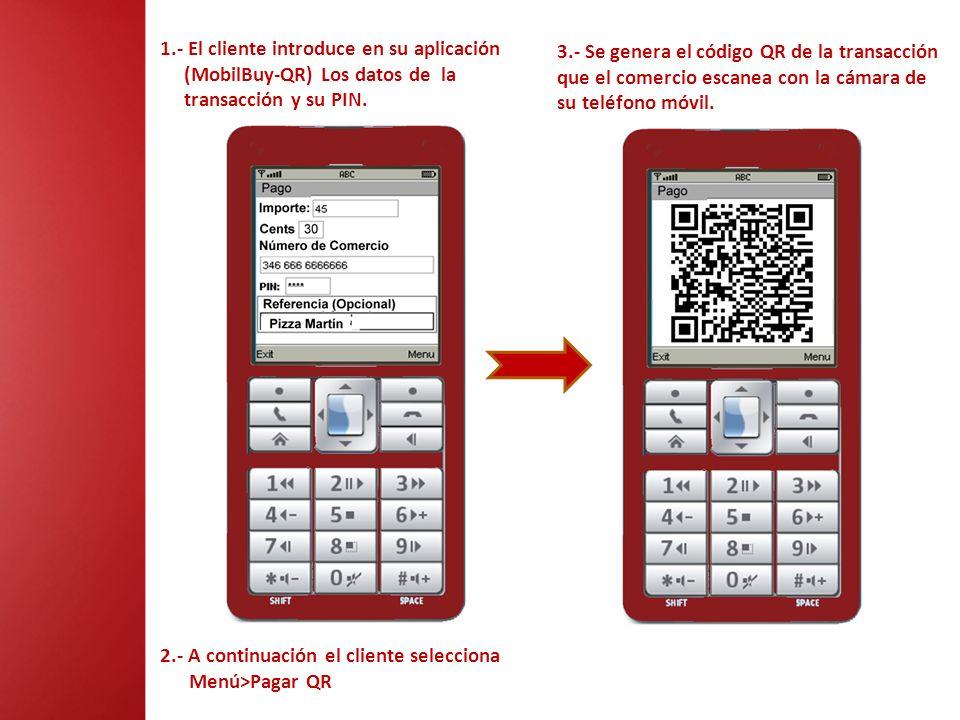 1.- El cliente introduce en su aplicación