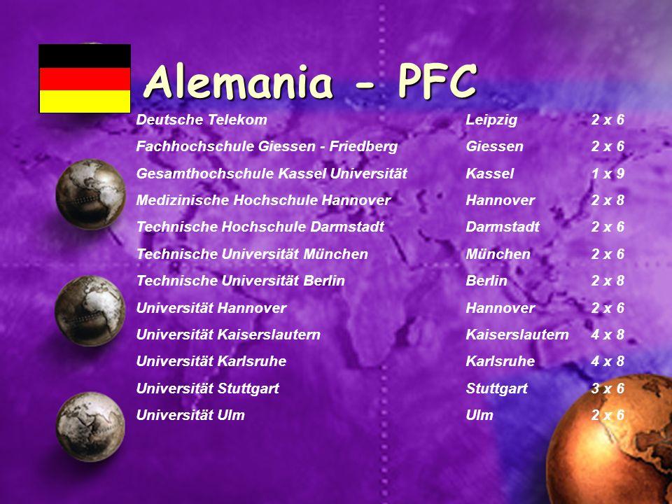 Alemania - PFC Deutsche Telekom Leipzig 2 x 6