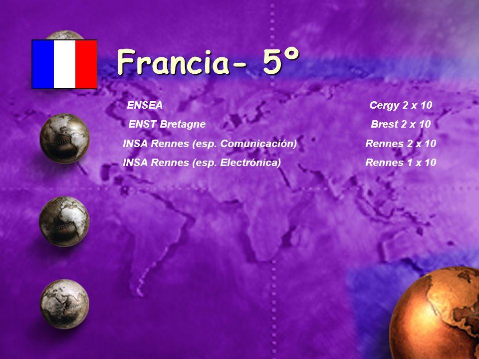 Francia- 5º ENSEA Cergy 2 x 10 ENST Bretagne Brest 2 x 10