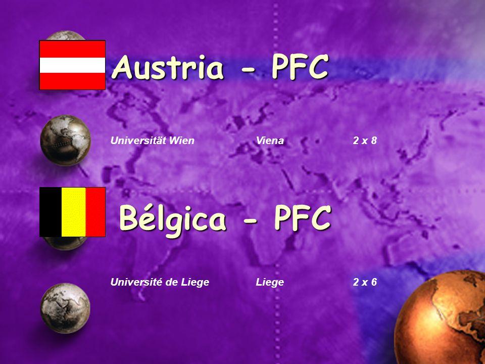 Austria - PFC Bélgica - PFC Universität Wien Viena 2 x 8