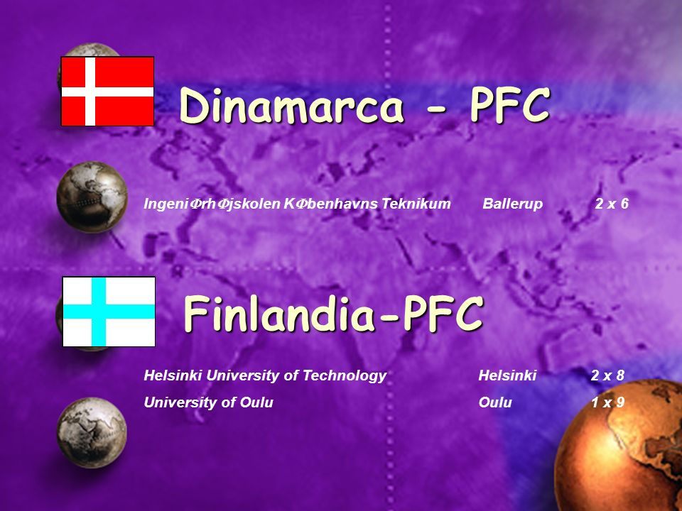 Dinamarca - PFC Finlandia-PFC