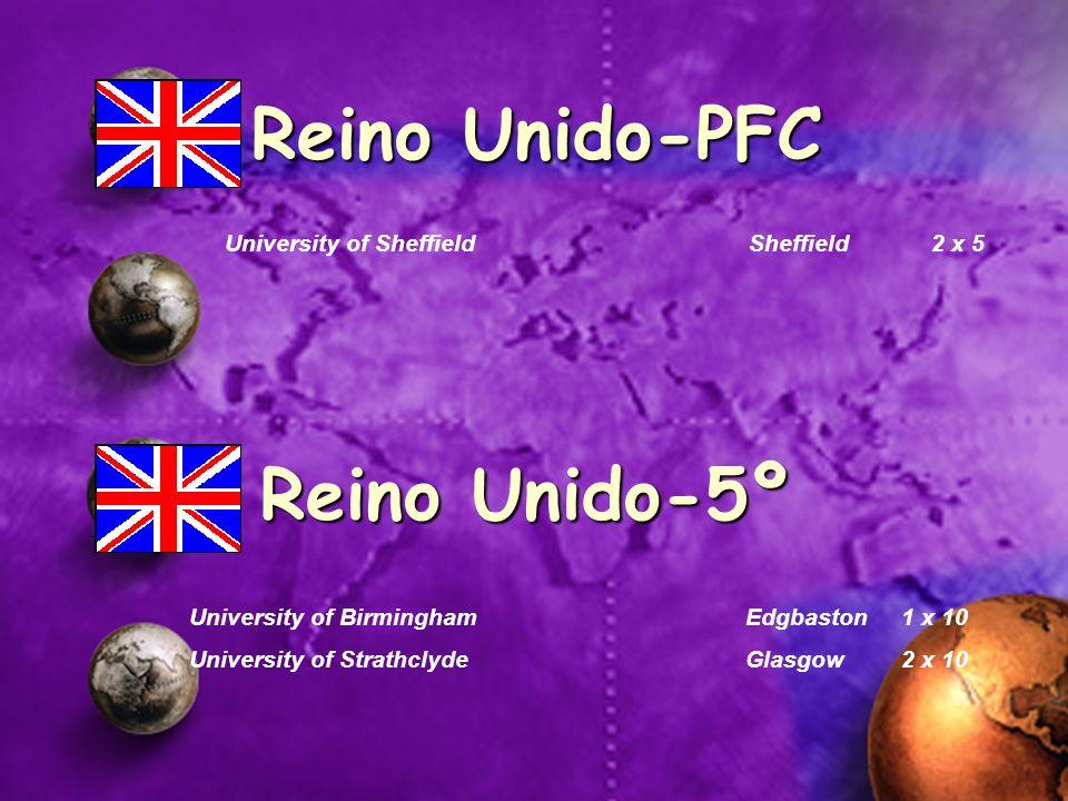Reino Unido-PFC Reino Unido-5º University of Sheffield Sheffield 2 x 5