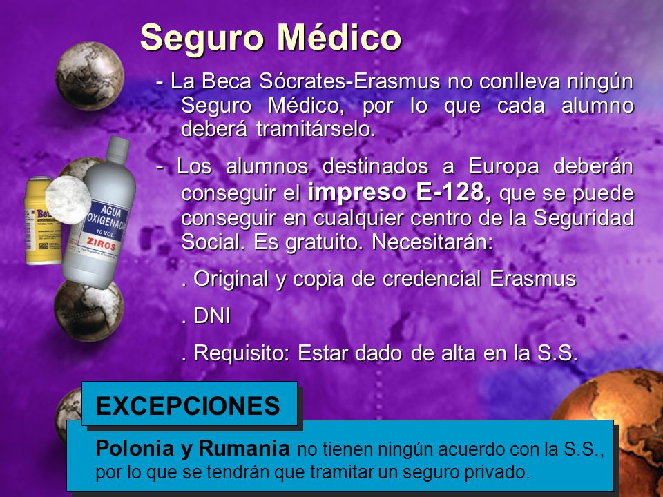 Seguro Médico EXCEPCIONES