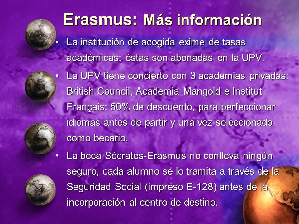 Erasmus: Más información
