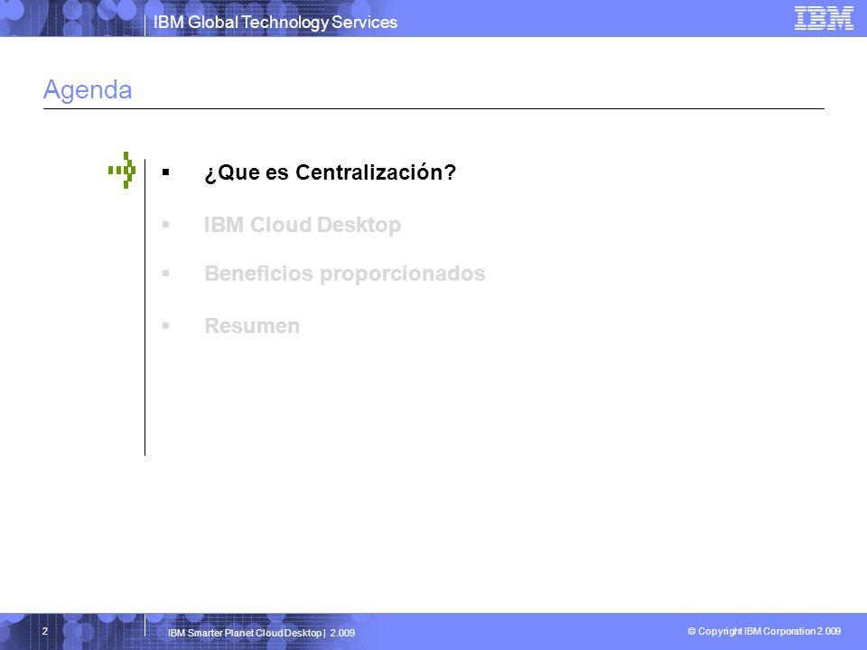 Agenda ¿Que es Centralización IBM Cloud Desktop