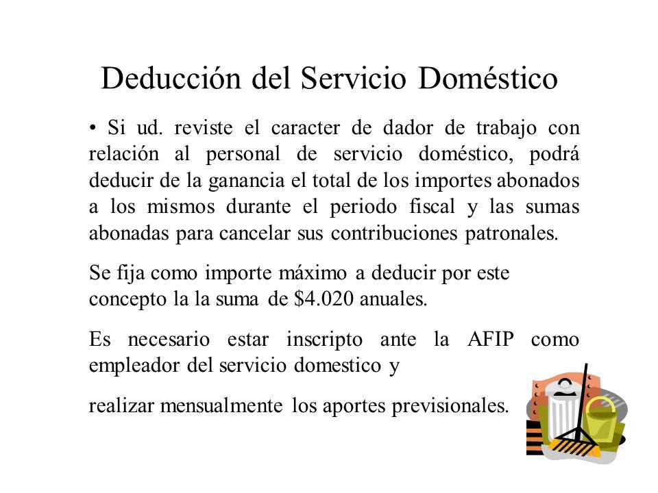 Deducción del Servicio Doméstico