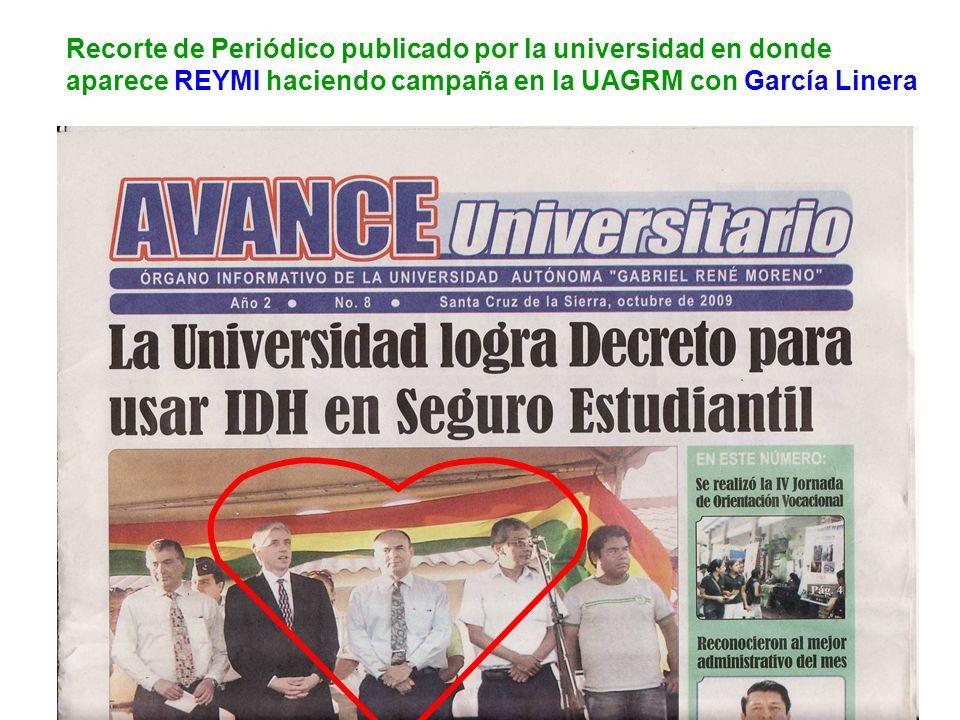 Recorte de Periódico publicado por la universidad en donde