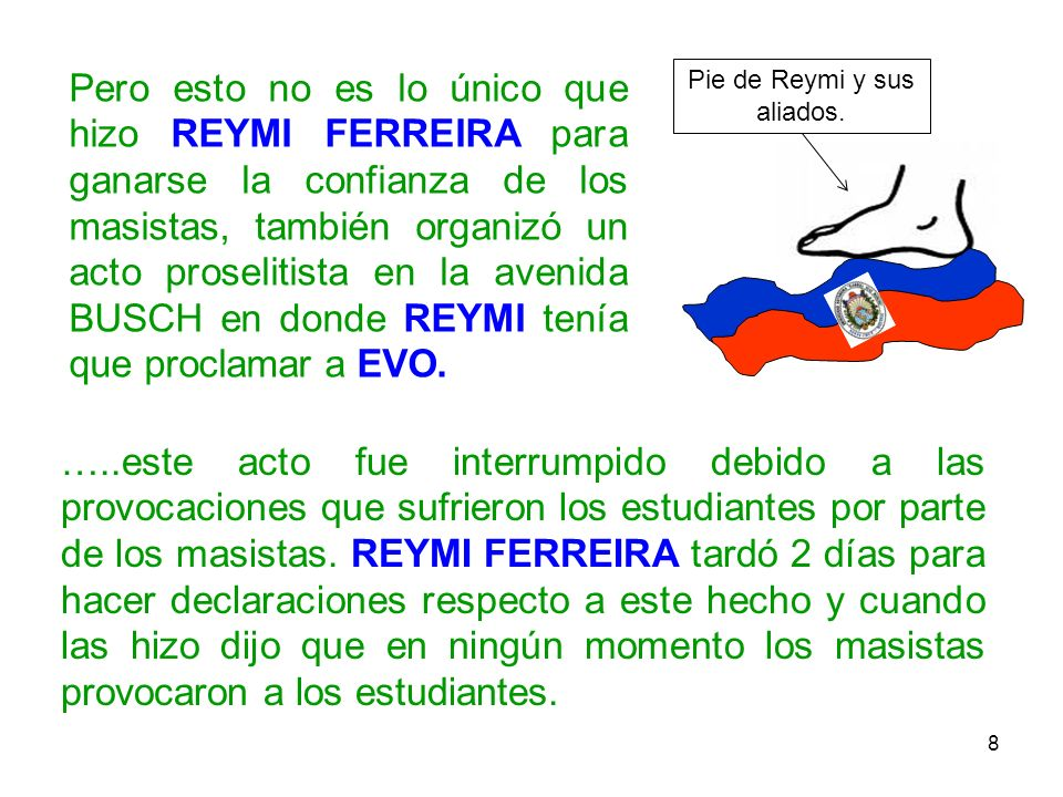 Pie de Reymi y sus aliados.