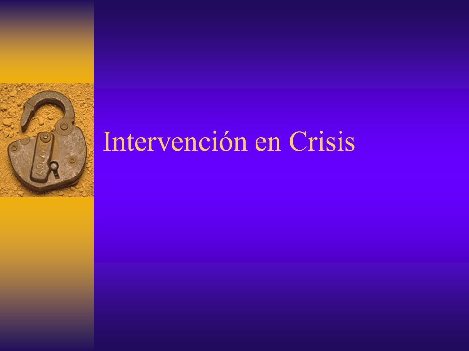 Intervención en Crisis
