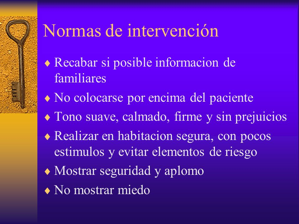Normas de intervención