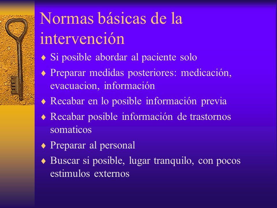 Normas básicas de la intervención