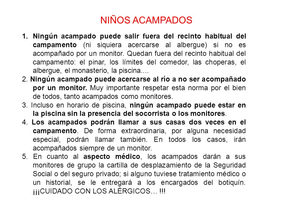 NIÑOS ACAMPADOS