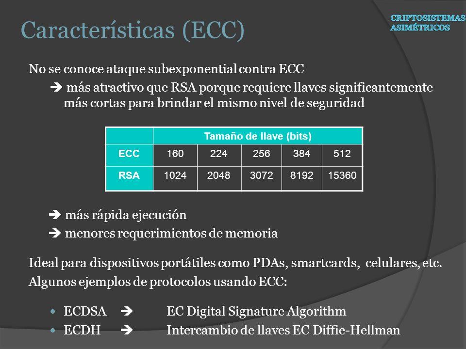 Características (ECC)