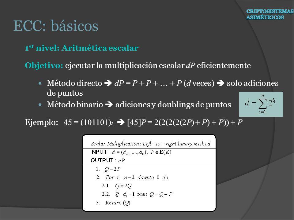 ECC: básicos 1st nivel: Aritmética escalar