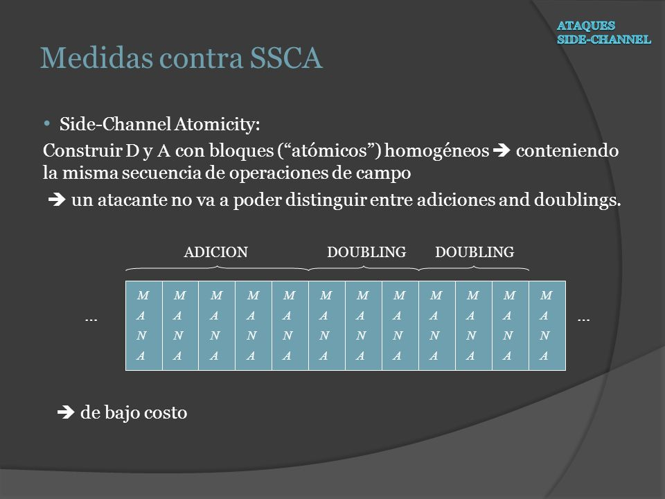 Medidas contra SSCA Side-Channel Atomicity: