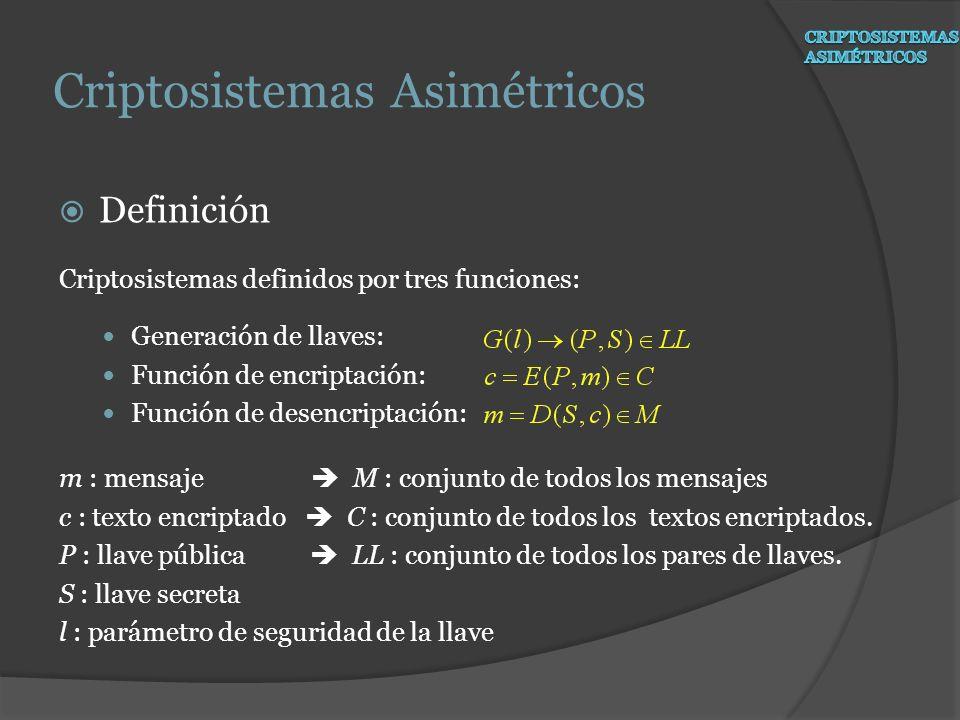 Criptosistemas Asimétricos