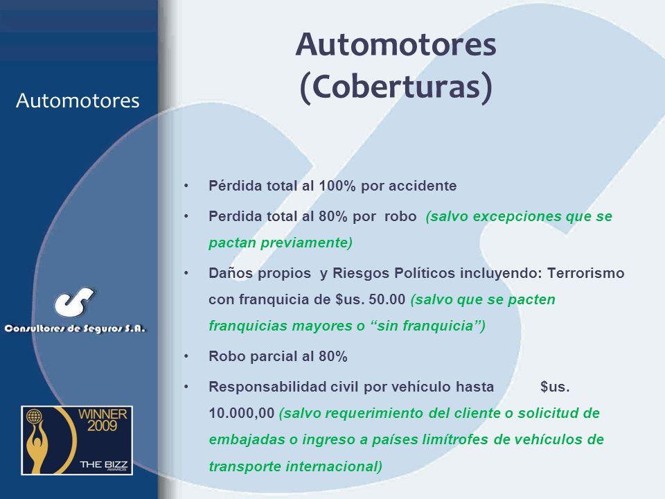Automotores (Coberturas)