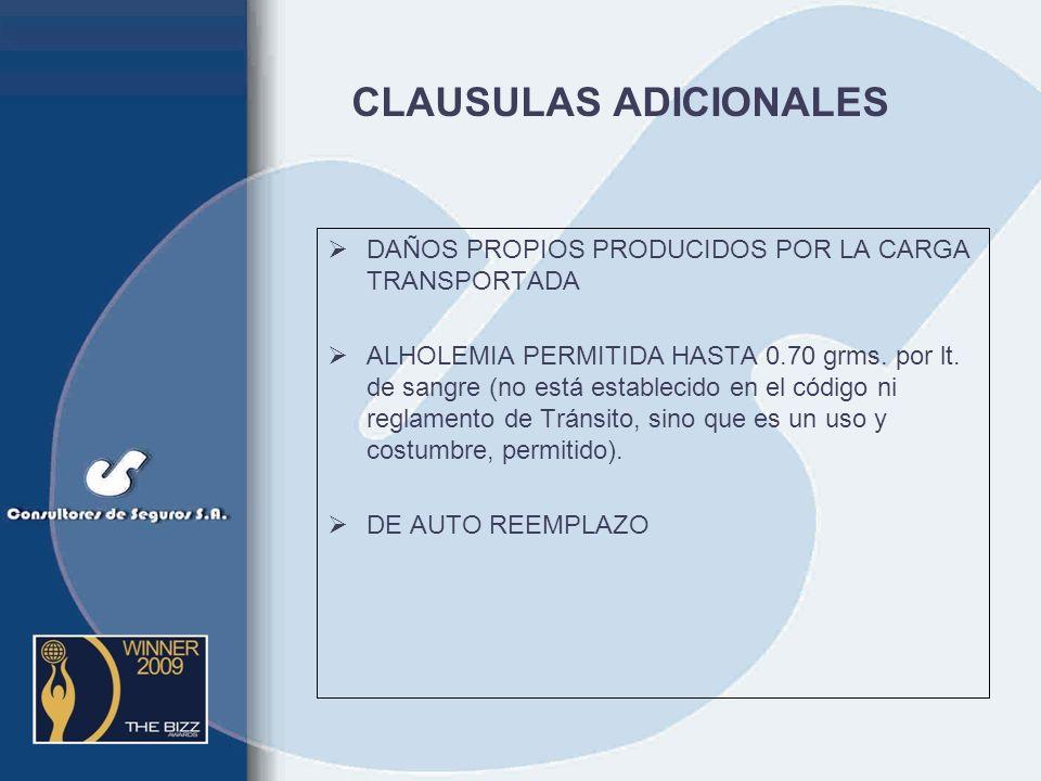 CLAUSULAS ADICIONALES