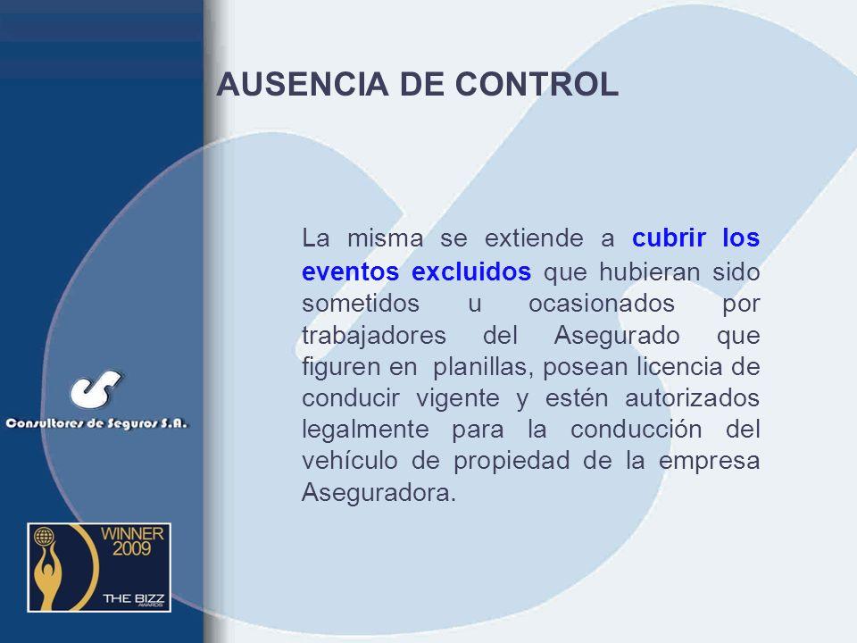 AUSENCIA DE CONTROL
