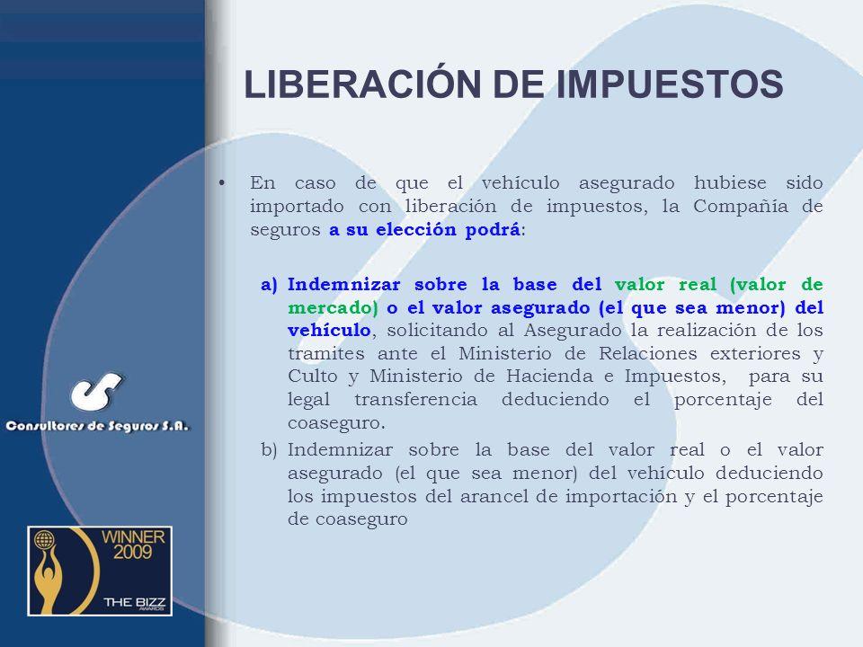 LIBERACIÓN DE IMPUESTOS