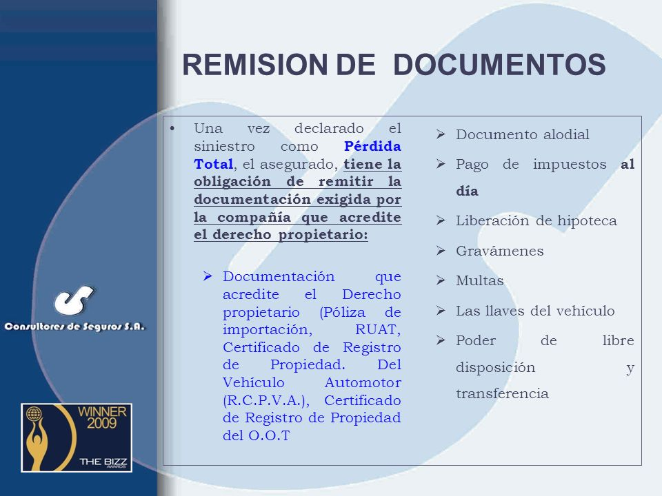 REMISION DE DOCUMENTOS