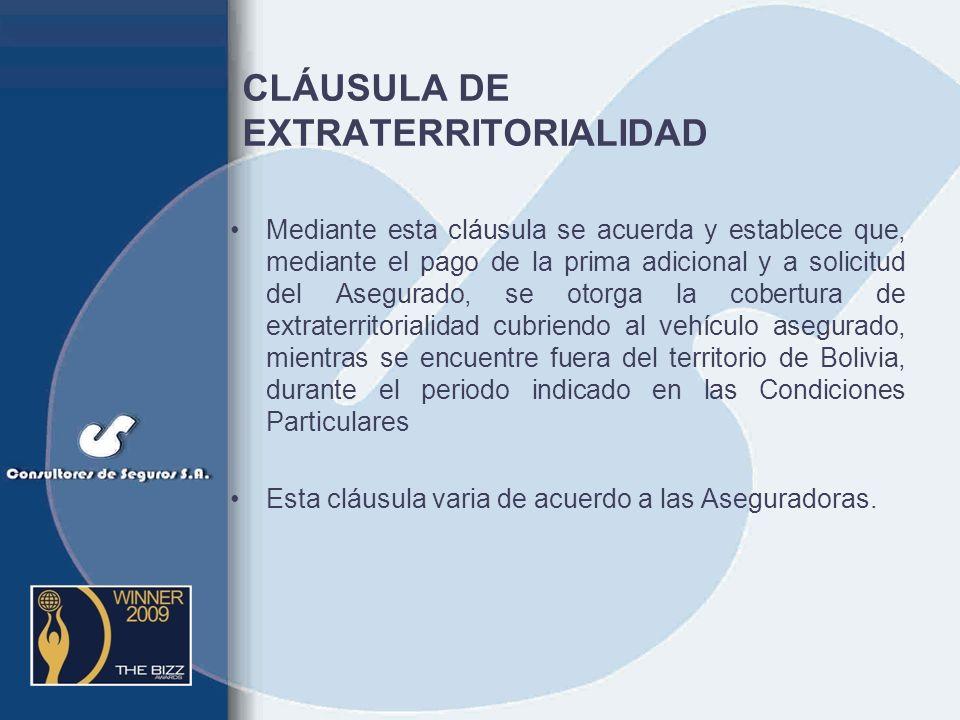 CLÁUSULA DE EXTRATERRITORIALIDAD
