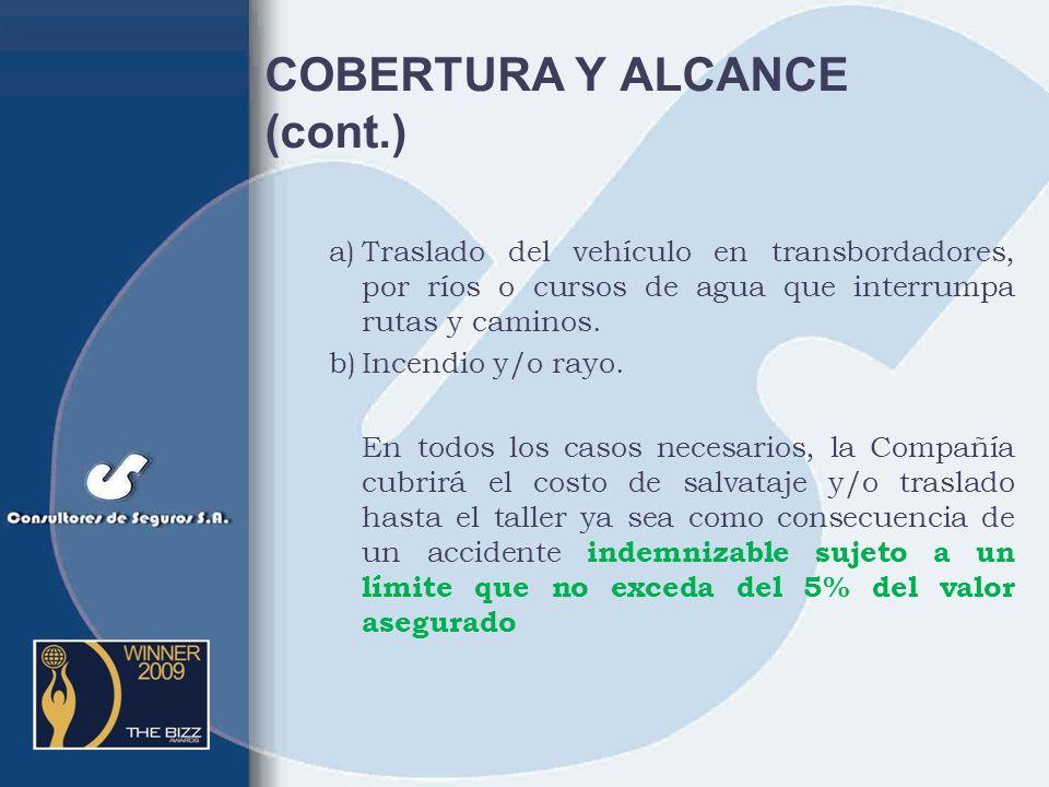 COBERTURA Y ALCANCE (cont.)