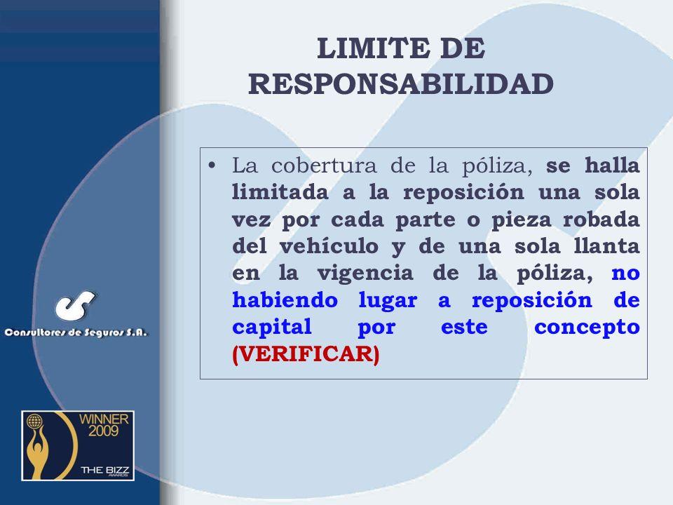 LIMITE DE RESPONSABILIDAD