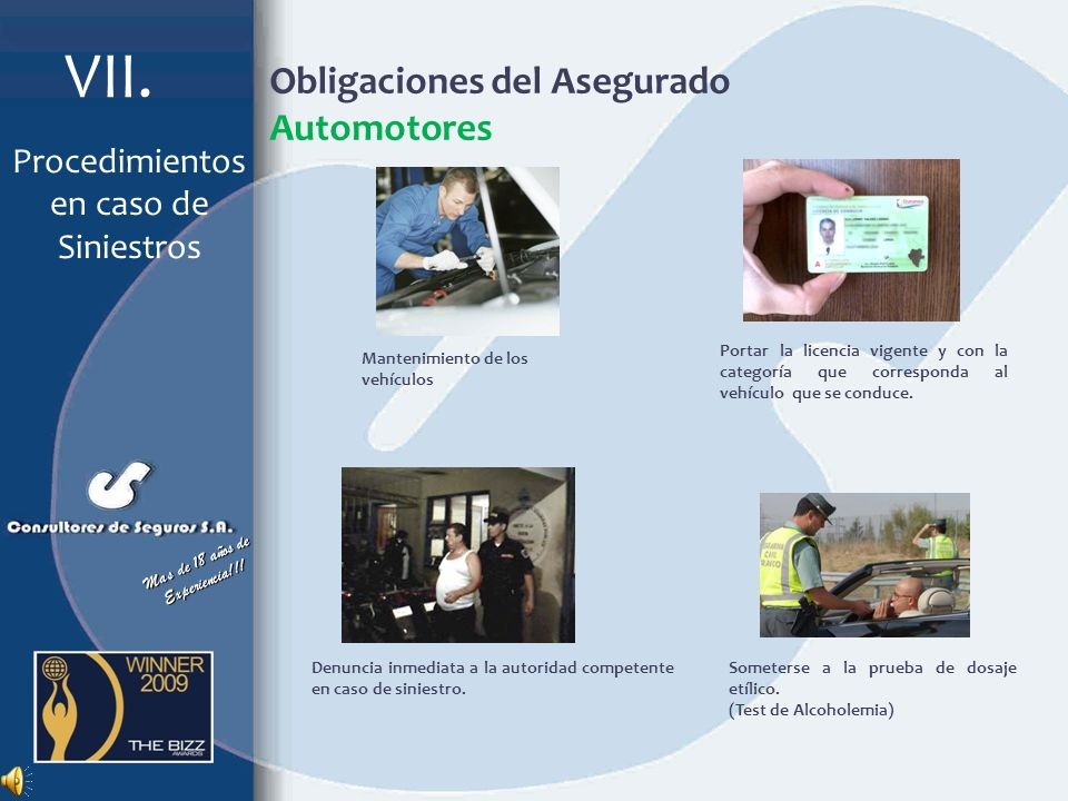 Obligaciones del Asegurado Automotores