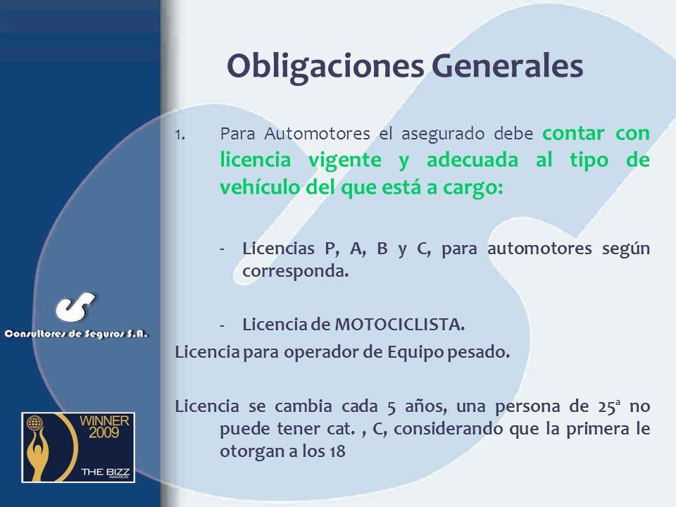 Obligaciones Generales
