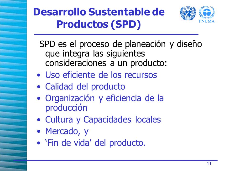 Desarrollo Sustentable de Productos (SPD)