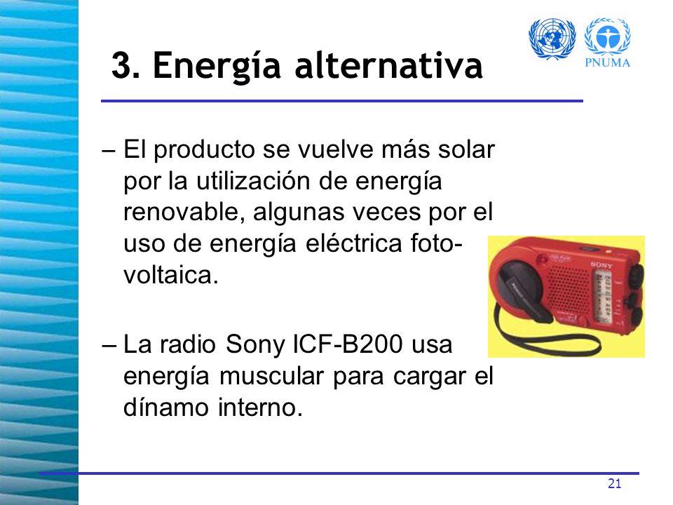 3. Energía alternativa