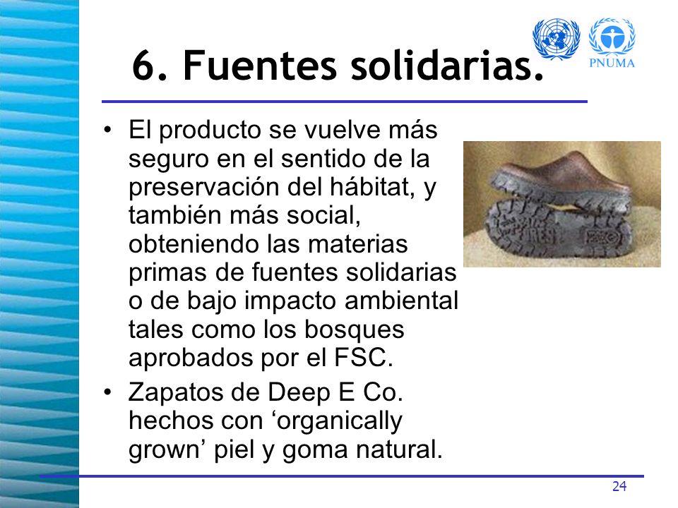 6. Fuentes solidarias.