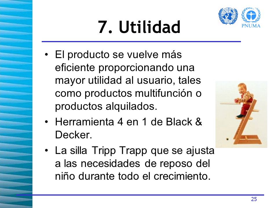 7. Utilidad