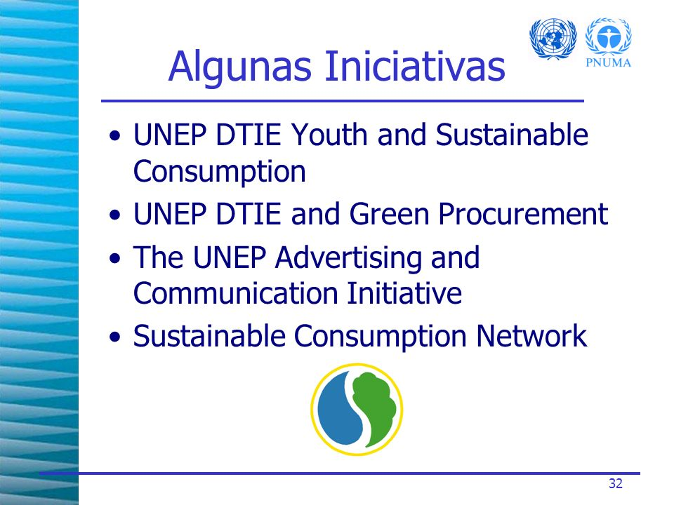 Algunas Iniciativas UNEP DTIE Youth and Sustainable Consumption