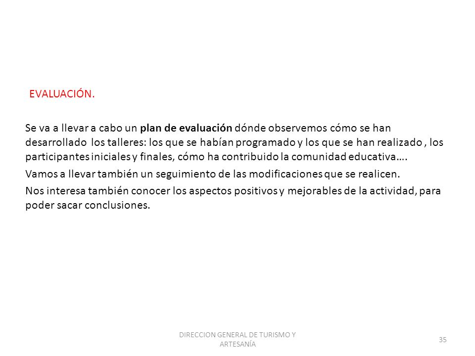 DIRECCION GENERAL DE TURISMO Y ARTESANÍA