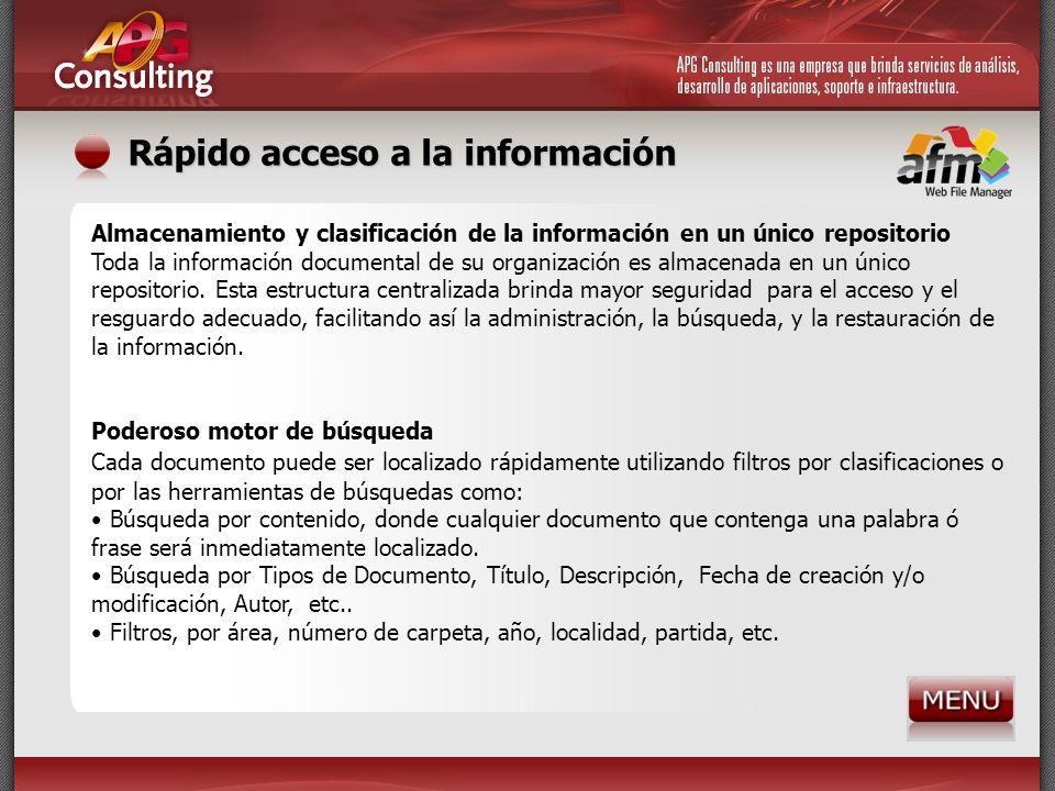 Rápido acceso a la información
