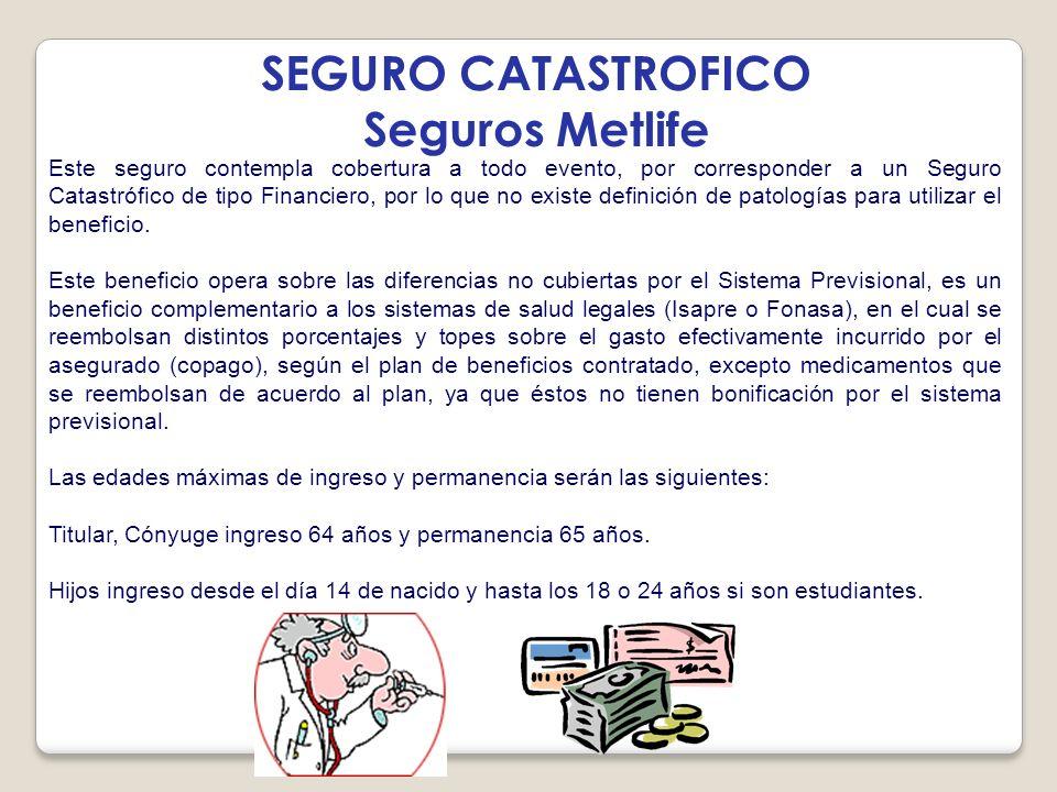 SEGURO CATASTROFICO Seguros Metlife